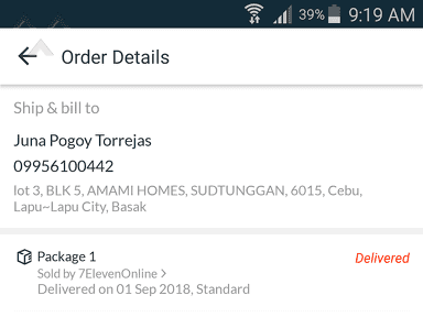 Lazada Philippines - Lazada item marked as delivered but I not receive.