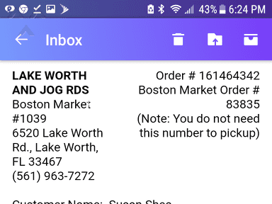 Boston Market Pick Up Service review 320810