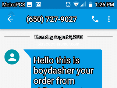 Doordash - Very Disappointed in Customer service and Business .