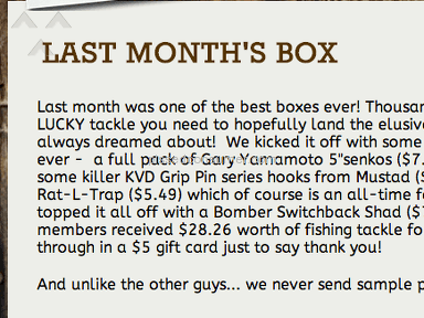Lucky Tackle Box Subscription review 30637