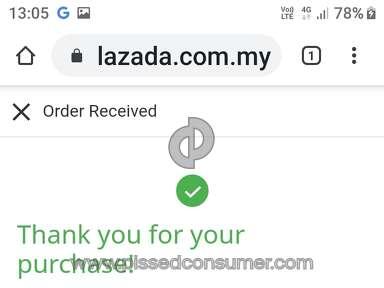 Lazada Malaysia Customer Care review 521527