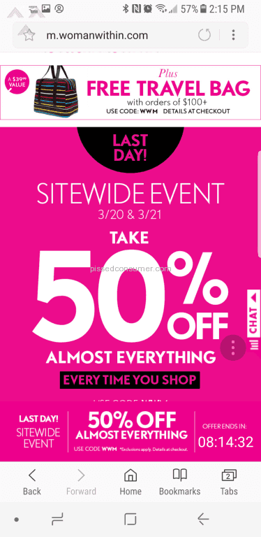 Woman Within 50 Percent Off Deal