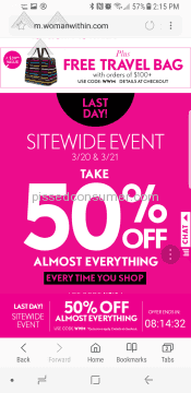 Woman Within 50-Percent Off Deal
