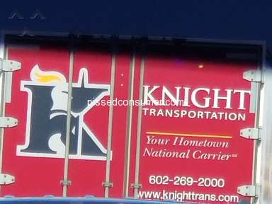 Knight Transportation - Run off the road