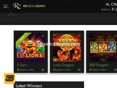 Rich Casino - Cannot Log-in just before bonus wagering completion 96%