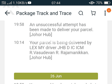 Lazada Malaysia - Most of it just the disappointments please improve ur courier services