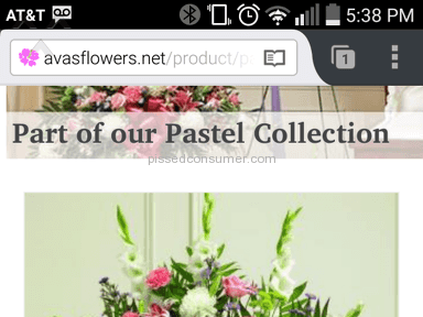 Avasflowers Arrangement review 72659
