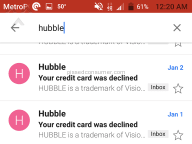 Do not try Hubble CONTACTS free trial..