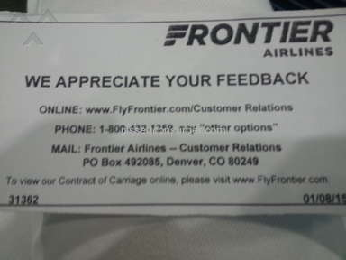 Frontier Airlines Transport review 75273