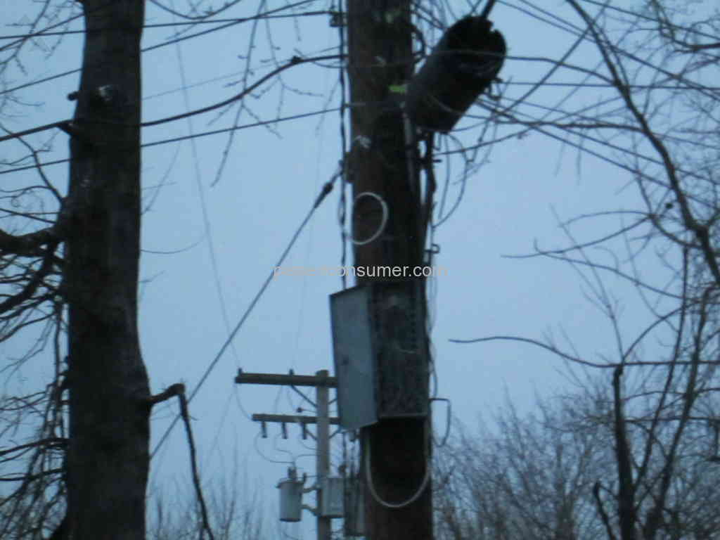 ATT - Squirrels eat wires after box left open on pole!!! Jan 22 ...