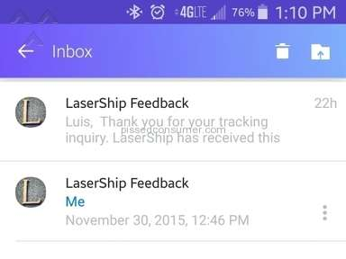 Lasership Tracking Review from New York, New York