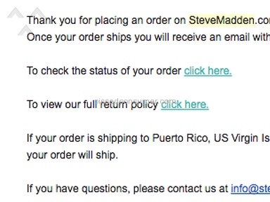 Steve Madden - TERRIBLE RETURN POLICY