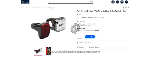 Bell Sports Radian 650 Headlight
