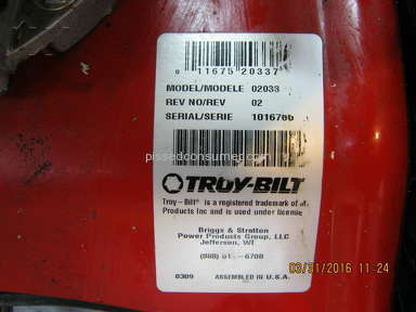 Troy Bilt Landscaping and Gardening review 124033