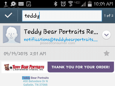 "Teddy Bear Portraits - Still waiting on my ""INSTANT"" digital images."