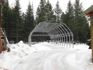 Coast To Coast Carports - No finished barn 7 months from purchase