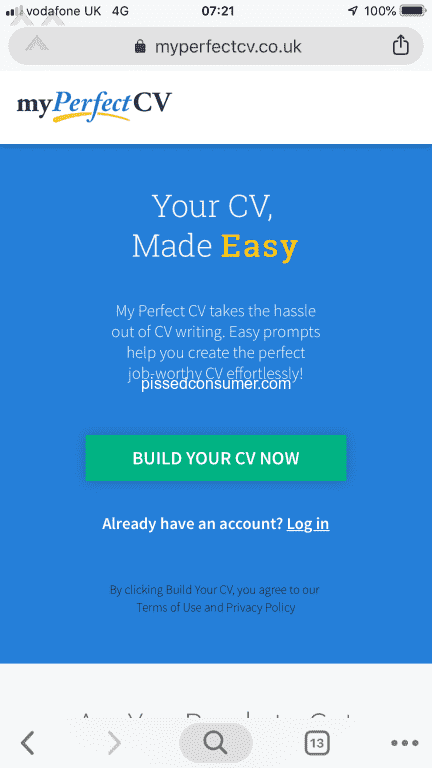 53 My Perfect Cv Reviews And Complaints At Pissed Consumer