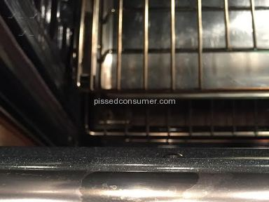 KitchenAid - 2015 gas range finish flaking off