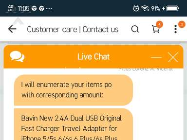 Lazada Philippines Customer Care review 357184