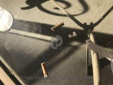DoorDash - Cigarette buds on my drink