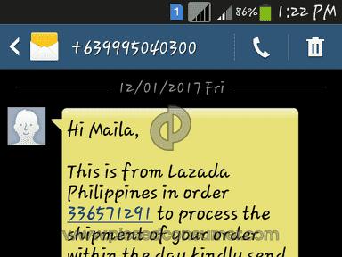 Lazada Philippines - Complaint