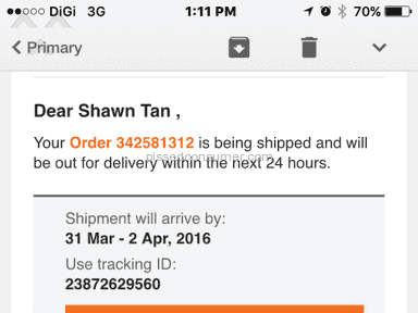 Lazada Malaysia Skynet Worldwide Express Delivery Service review 123981