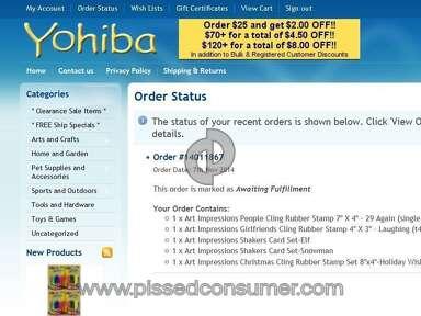 Yohiba.com Never Received order
