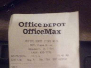 Office Depot Printing Services Review from Mountain View, California