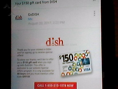 GoDish - Got a text for a 150 visa card
