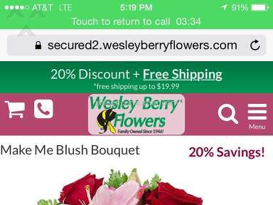 Wesley Berry Flowers Make Me Blush Bouquet Review from Lexington Park, Maryland
