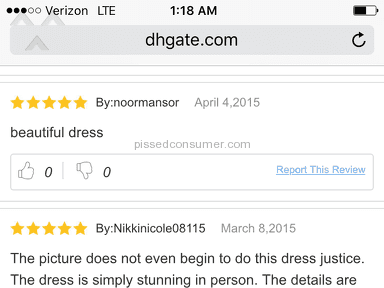 Dhgate Wedding Dress review 131083