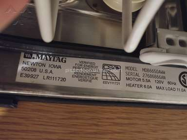 Maytag - BROKEN AGAIN- Poorly engineered plastic handle dishwasher door