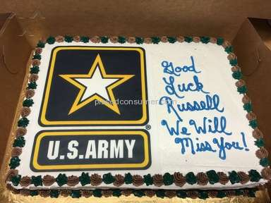 Reasors Foods - Army goodbye Party Cake