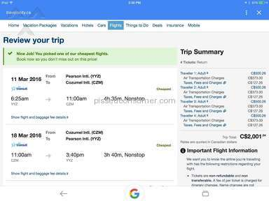Travelocity Flight Booking review 118939