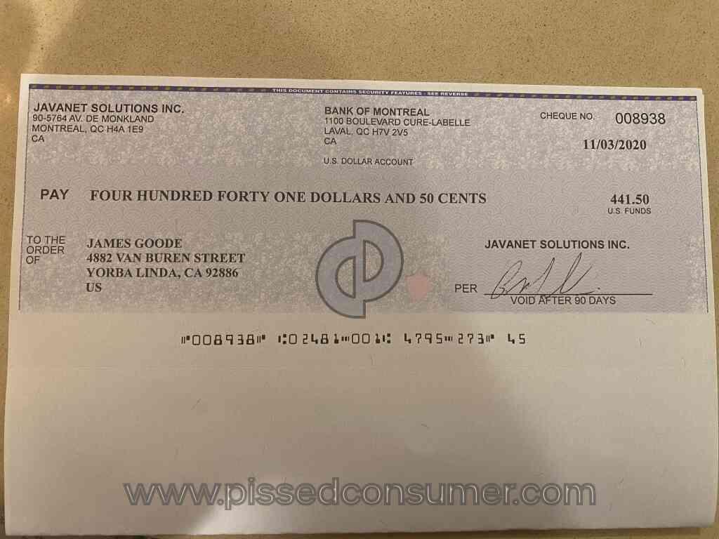 Bovada Payout Checks
