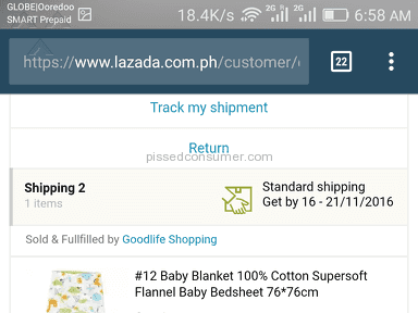 Lazada Philippines Shipping Service review 172062