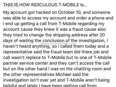 Tmobile - T-Mobile could careless less who hacked your info