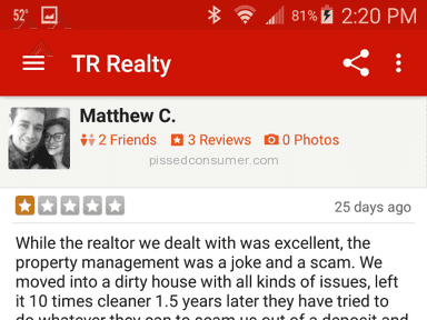 Tr Realty Real Estate review 101903