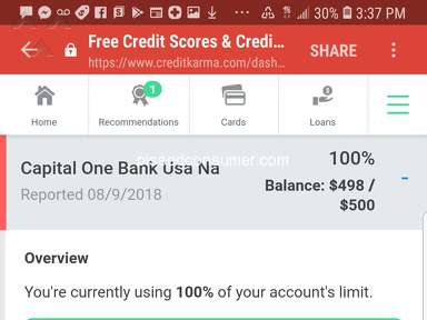 Capital One Reported To The Credit Bureau in 16 Days!
