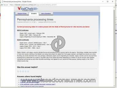 Vitalchek - Worst Ever