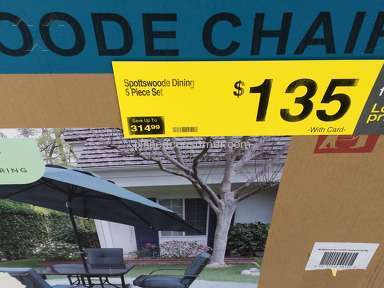Kroger - Purchaced a patio set on sale