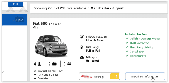 Argus Car Hire Car Rental