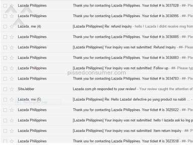 Lazada Philippines Customer Care review 132127