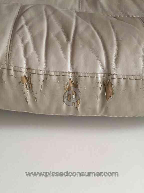 Cindy Crawford Leather Sofa Pealing