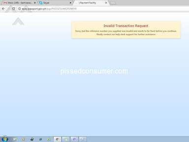 Dfa Passport Appointment System - INVALID TRANSACTION REQUEST