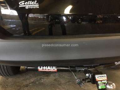 Uhaul - Hitch Installation Review from Tampa, Florida