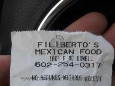 Filibertos Customer Care review 153580