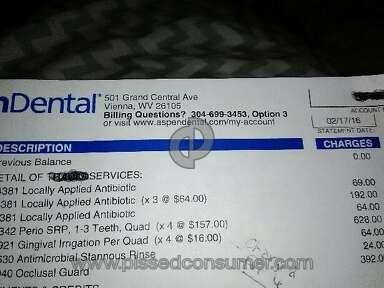 Aspen Dental - Overcharges