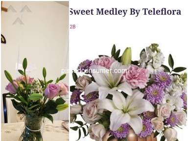 FlowerShopping - Did not receive the same flowers ordered and delivered a day late