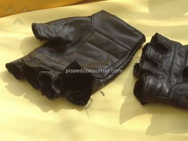 Motorbike leather gloves from Harley Davidson - sad quality